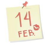 Le rappel de Valentine Photo libre de droits