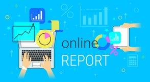 Le rapport et la comptabilité en ligne sur le concept créatif de smartphone dirigent l'illustration illustration stock