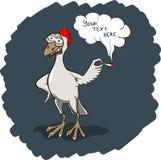 Le rastafari de sourire chiken Coq avec le joint de marijuana Illustration de vecteur, endroit pour votre texte Image stock