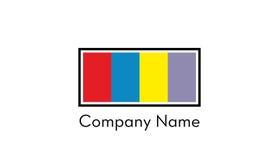Le rectangle colore le logo Image stock