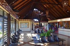 Le refuge du petit aéroport du DES d'Ile goupille l'île, Nouvelle-Calédonie Photos stock