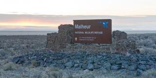 Le refuge national de réserve de Malheur a fermé maintenant l'occupat de Bundy photo libre de droits