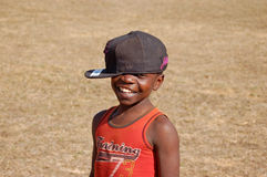 Le regard sur les visages des enfants de l'Afrique - village Pomeri Photos libres de droits