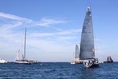 Le regatta 2010 de Barcolana Images libres de droits