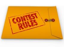 Le regole di concorso hanno classificato la forma di entrata di termini di termini della busta royalty illustrazione gratis