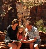 Le relevé de famille en stationnement national Utah de Zion Image stock