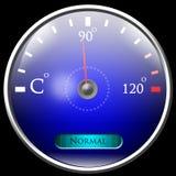Le relevé de la température Photo stock