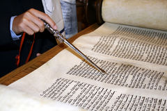 Le relevé de Torah Photos libres de droits