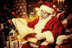 Le relevé Santa Images stock
