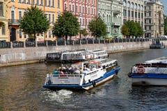 Le remblai de rivière de Moika à Léningrad Photographie stock libre de droits
