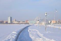 Le remblai du golfe de Finlande à St Petersburg photos libres de droits