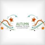 Le remous d'automne raye et part sur le blanc illustration stock