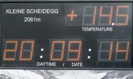 le remplissage digital de chiffres d'horloge obtiennent juste la DEL juste à haut inutile Image libre de droits