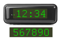 le remplissage digital de chiffres d'horloge obtiennent juste la DEL juste à haut inutile Photo libre de droits