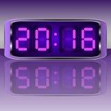 le remplissage digital de chiffres d'horloge obtiennent juste la DEL juste à haut inutile Digital Uhr Nummer Images stock