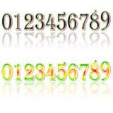 le remplissage digital de chiffres d'horloge obtiennent juste la DEL juste à haut inutile Digital Uhr Nummer Image libre de droits