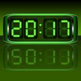 le remplissage digital de chiffres d'horloge obtiennent juste la DEL juste à haut inutile Digital Uhr Nummer Illustration Stock