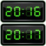 le remplissage digital de chiffres d'horloge obtiennent juste la DEL juste à haut inutile Digital Uhr Nummer Illustration Libre de Droits
