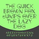 Le renard brun rapide saute par-dessus le chien paresseux Images libres de droits