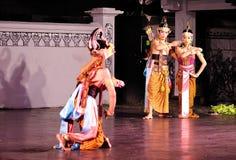 Le rendement de danse de Ramayana Images libres de droits