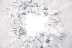 le rendu 3d a étiré le fond abstrait de la terre avec les rayons légers de volume Photo libre de droits