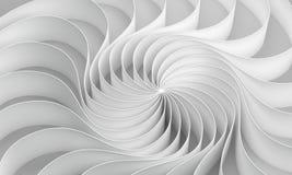 le rendu 3d a courbé le résumé sur le fond blanc, illustration illustration stock