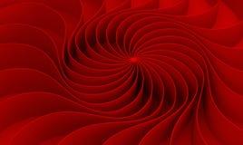 le rendu 3d a courbé le résumé sur le fond rouge dans le ` s DA de valentine illustration stock