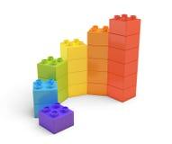 le rendu 3d du jouet multicolore bloque composer les escaliers en spirale illustration libre de droits