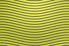 le rendu 3d, noircissent la ligne incurvée sur la surface en plastique jaune de mur, fond abstrait images libres de droits