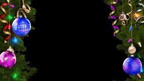 le rendu 3D d'un cadre de fête lumineux de Noël aidera à créer une atmosphère magique étonnante illustration libre de droits
