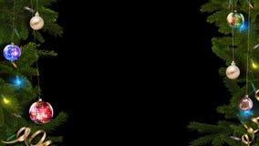 le rendu 3D d'un cadre de fête lumineux de Noël aidera à créer une atmosphère magique étonnante illustration de vecteur