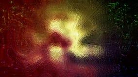 le rendu 3D d'une tache abstraite créative vive et brouillée d'une forme complexe s'est réuni à partir des particules Photographie stock
