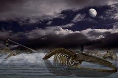 Le repère I de chanson de baleines Images libres de droits