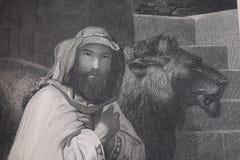 Le repaire du lion Photos libres de droits