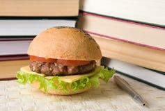 Le repas de l'étudiant Images stock