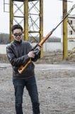 Le représentant de la Mafia chinoise, jeune voyou Image libre de droits