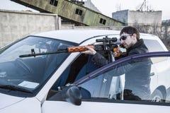 Le représentant de la Mafia russe, jeune voyou Image libre de droits