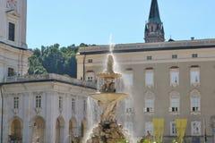 Le Residenzplatz à Salzbourg, Autriche images stock