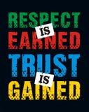 Le respect est gagné la confiance est gagné, image de vecteur Photo libre de droits