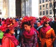 Le ressort de chapeaux de défilé de Pâques colore New York City Photo libre de droits