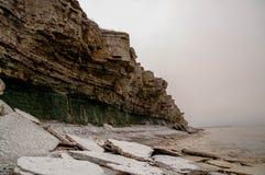 Le ressort est soulevé en falaises de Pakri Photo libre de droits