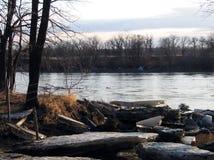 Le ressort se cassent sur l'Assiniboine photos stock