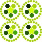 Le ressort simple a modifié la tonalité le modèle fait de cercles, étoiles et tons de illustration stock