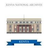 Le ressortissant du Kenya archive le vecteur plat de style de bande dessinée Photos libres de droits