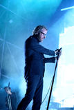 Le ressortissant (groupe de rock indépendant américain) de concert au bruit 2014 de Heineken Primavera Photos stock
