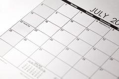 Le ressortissant Parents ` jour le 22 juillet jour du ` s de parent sur le calendrier Images stock
