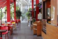 Le restaurant d'air ouvert au district des affaires 101 de Taïpeh Images libres de droits
