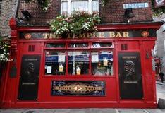 Le restaurant de barre de temple à Dublin Images libres de droits