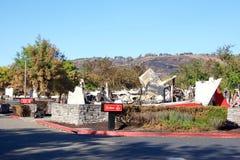 Le restaurant du ` s d'Arby a brûlé à la terre pendant les feux récents en Californie du nord Images libres de droits