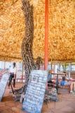 Le restaurant en parc de réservation de Ngorongoro Photographie stock